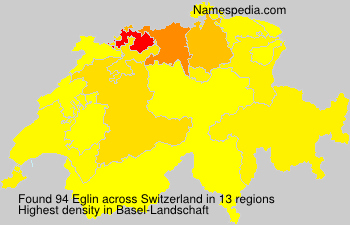 Surname Eglin in Switzerland