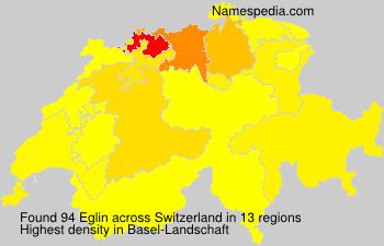 Surname Eglin in Switzerland