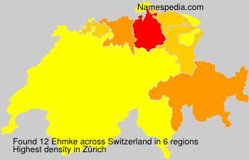 Surname Ehmke in Switzerland