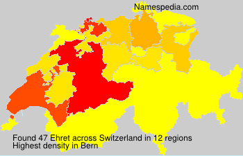 Surname Ehret in Switzerland