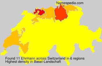 Surname Ehrmann in Switzerland