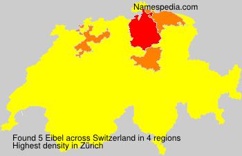 Surname Eibel in Switzerland