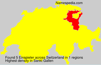 Surname Einspieler in Switzerland