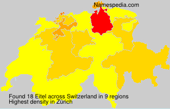 Surname Eitel in Switzerland