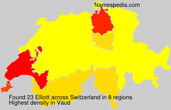 Surname Elliott in Switzerland