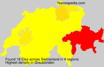 Surname Elsa in Switzerland
