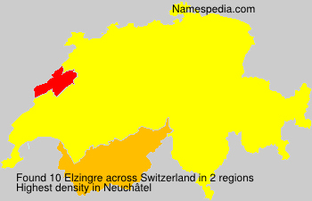 Familiennamen Elzingre - Switzerland