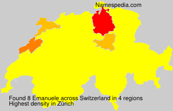 Surname Emanuele in Switzerland