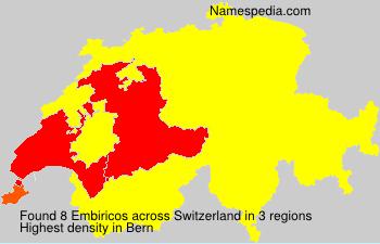 Familiennamen Embiricos - Switzerland