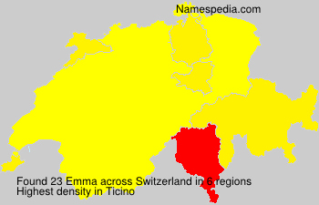 Surname Emma in Switzerland