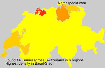 Surname Emmel in Switzerland