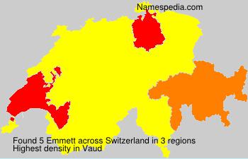 Surname Emmett in Switzerland