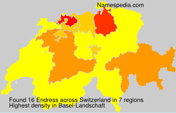 Surname Endress in Switzerland
