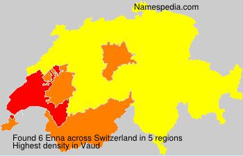Surname Enna in Switzerland
