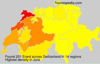 Surname Erard in Switzerland