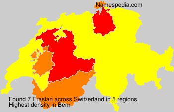 Surname Eraslan in Switzerland