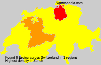 Surname Erdinc in Switzerland