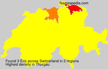 Surname Eris in Switzerland