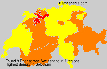 Surname Erler in Switzerland