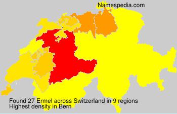 Surname Ermel in Switzerland