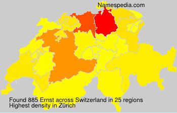 Familiennamen Ernst - Switzerland