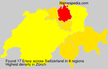 Surname Ersoy in Switzerland