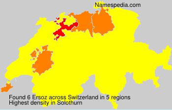 Surname Ersoz in Switzerland