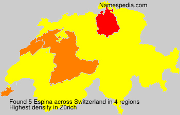 Surname Espina in Switzerland