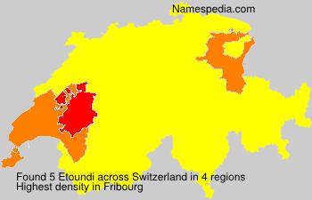 Surname Etoundi in Switzerland