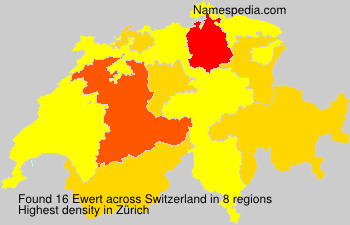 Surname Ewert in Switzerland