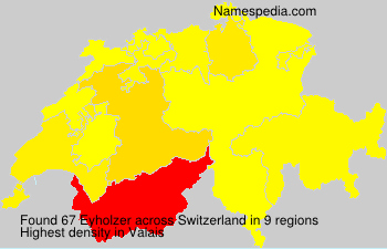 Surname Eyholzer in Switzerland