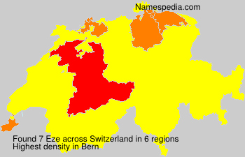 Surname Eze in Switzerland