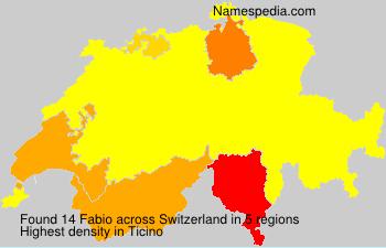 Surname Fabio in Switzerland