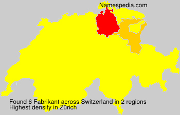 Familiennamen Fabrikant - Switzerland