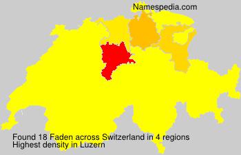 Familiennamen Faden - Switzerland