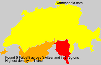 Surname Falcetti in Switzerland