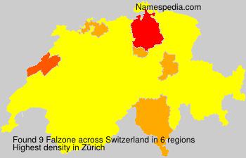 Familiennamen Falzone - Switzerland