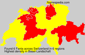 Surname Fanta in Switzerland