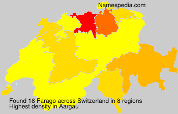 Surname Farago in Switzerland