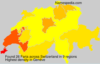Surname Faria in Switzerland