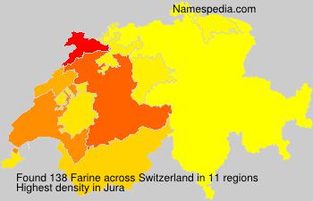 Surname Farine in Switzerland