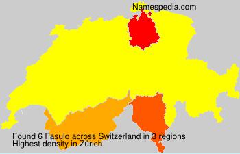 Surname Fasulo in Switzerland