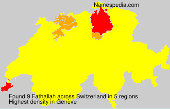 Familiennamen Fathallah - Switzerland
