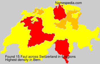 Surname Faul in Switzerland