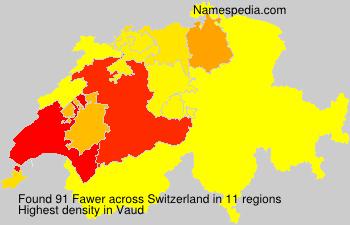 Surname Fawer in Switzerland