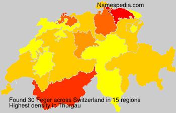 Surname Feger in Switzerland