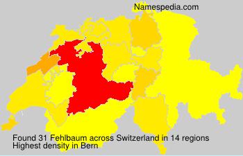 Surname Fehlbaum in Switzerland