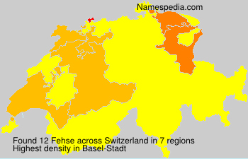 Surname Fehse in Switzerland