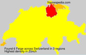 Surname Feige in Switzerland