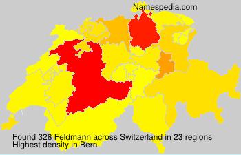 Surname Feldmann in Switzerland